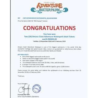 Desau Coast Adventure Waterpark Tickets