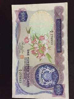 Singapore orchid series $100 note for sale!