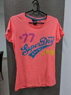 Superdry Neon Orange Pink T-shirt Top