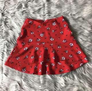 Red floral skirt 🍄