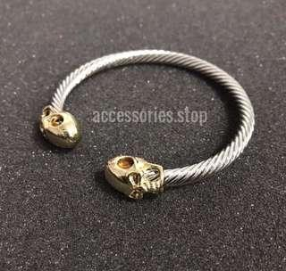 🚚 🔥INSTOCK | Ancient Skull Metal Bracelet (Gold)