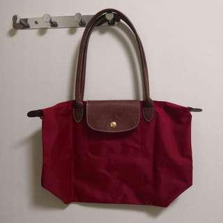 (BN) Longchamp Le Pliage Tote Bag S Red