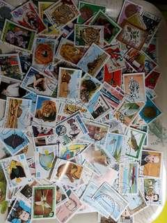 Large tray of Cuba stamps R