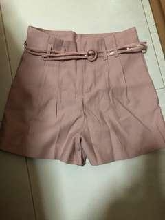 lediva brand new paperbag shorts in pink
