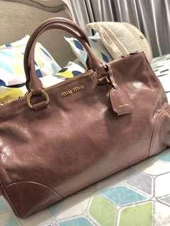 98a571da94f7 Miu Miu Bag - Vitello Shine - Antico