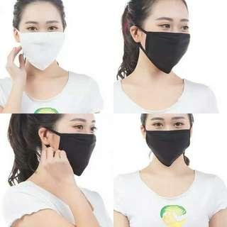🚚 BN Cotton Face Mask (Black or White)