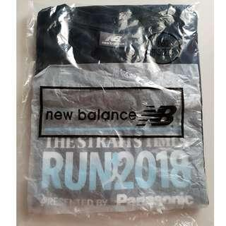 The Straits Time Run 2018 New Balance Mens (Size L) Finisher T-Shirt