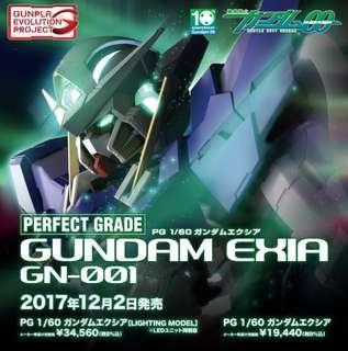 PG 1/60 Gundam Exia [Lighting Model]