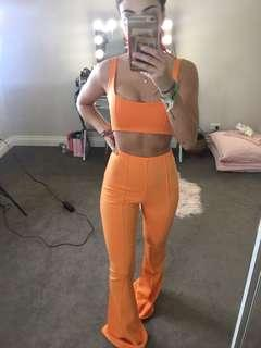 Missguided Orange Set XS 6 Co Ord