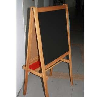 (SOLD) Ikea STanding/foldable Dual Blackboard cum Whiteboard with markers tray for teaching kids Good Conditions and FIXED Price