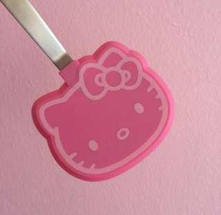 Very Cute Hello Kitty Imported Mini Pink Silicone Stainless Steel Spatula