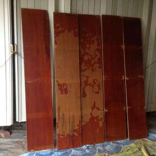 檜木老床板5塊