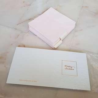 Wedding invitation cards (with envelopes)