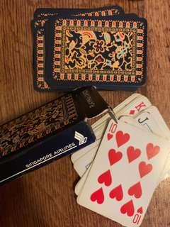 Singapore airlines playing card deck