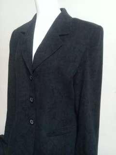 🚚 古董絨面質感修身西裝式外套vintage古著