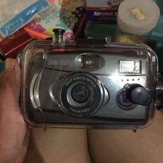 Vintage film cam with underwater case