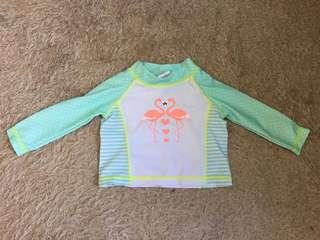 Flamingo Rashguard for Baby Girl