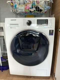 Samsung Front Load Combo Washer with AddWash, 8kg wash & 6kg dry (WD80K6410OW)