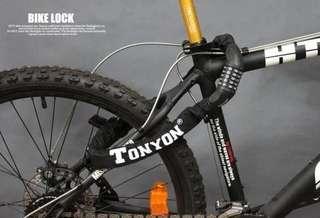 TONYON outdoor cycling international password security anti-theft lock