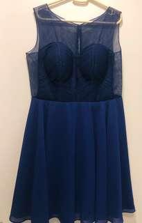 BLUE SEMI-FORMAL DRESS