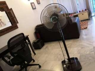Electronic stand fan