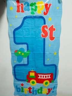 1st Baby Birthday Banner