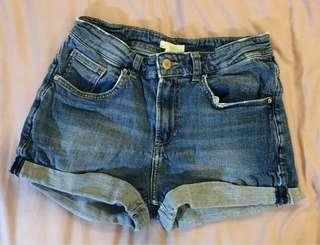 [REPRICED] HIGH WAISTED DENIM SHORTS