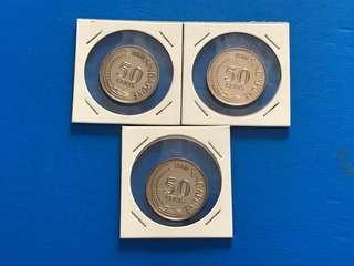UNC  Old Singapore coins (1980&1981)