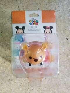 全新Disney Tsum Tsum 地鐵 港鐵紀念限量車票回力車 迪士尼 卡通 MTR Toy Car PullbackTrain 小熊維尼 Winnie the pooh