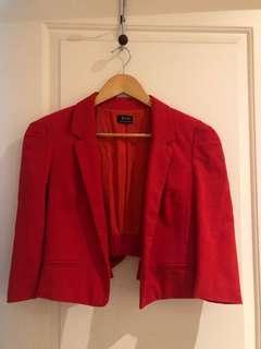 Bardot size 8 cropped blazer