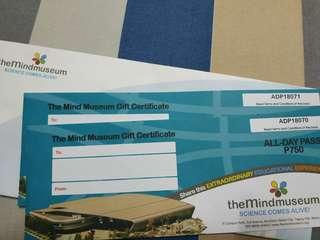 The Mind Museum Gift Certificate