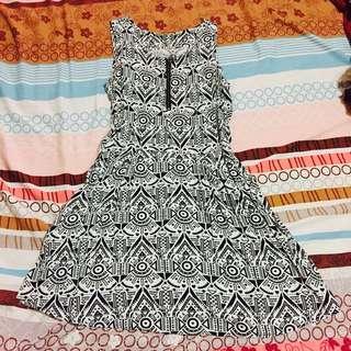 Aztec-printed dress