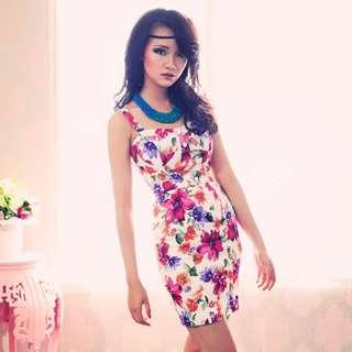 Mgg Crawford Floral Bustier Dress