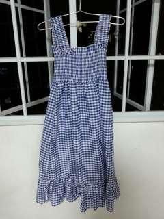 Dress Brand New Sweet Blue Checkered