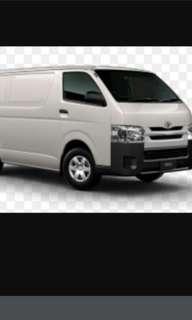 Looking for van - rental fee at $800