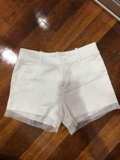 White Short Pant
