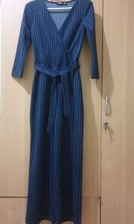 Bershka Dark Blue Jumpsuit