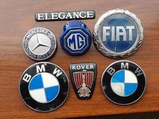 (包郵)原廠名牌車/古董車 車章  Genuine Car Badges