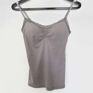 BNWT Uniqlo Airism Lace Bra Camisole, Nude colour