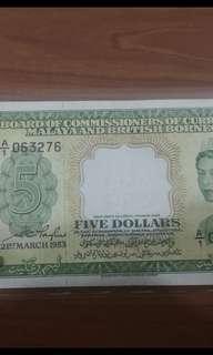 1953年$5块A1