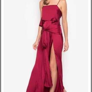 FOR RENT Apartment 8 RED Silk Long Gown