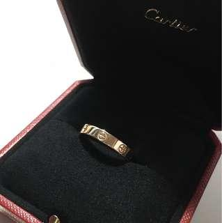 Authentic Cartier Love Ring In Rose Gold (Size57)
