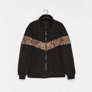 Bershka Men Faux Sherling Bomber Jacket