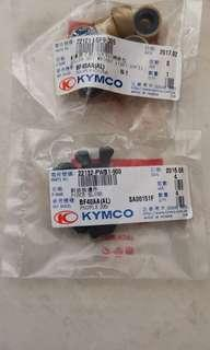 2 x brand new and unused KYMCO rollers and u clips with free delivery