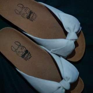Sandal bunny feet