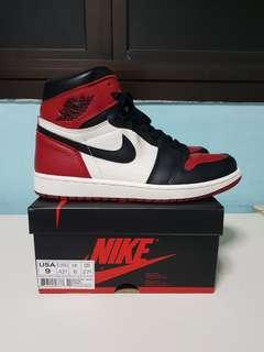Air Jordan 1 bred toe US9