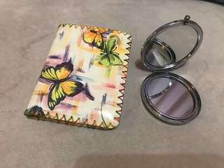 Butterfly wallet & free compact mirror