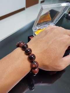 Red Tiger eyes bracelet (红虎眼手链)