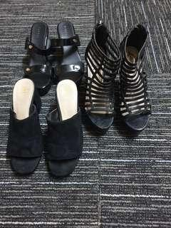 BUY 1 FREE 1 Black wedge/ heels/ shoe