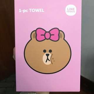 LINE Friends Towel 粉紅色毛巾